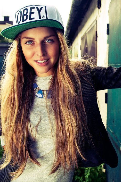 swag girl | OBEY | Chicks n caps | Pinterest | Posts, Long ...