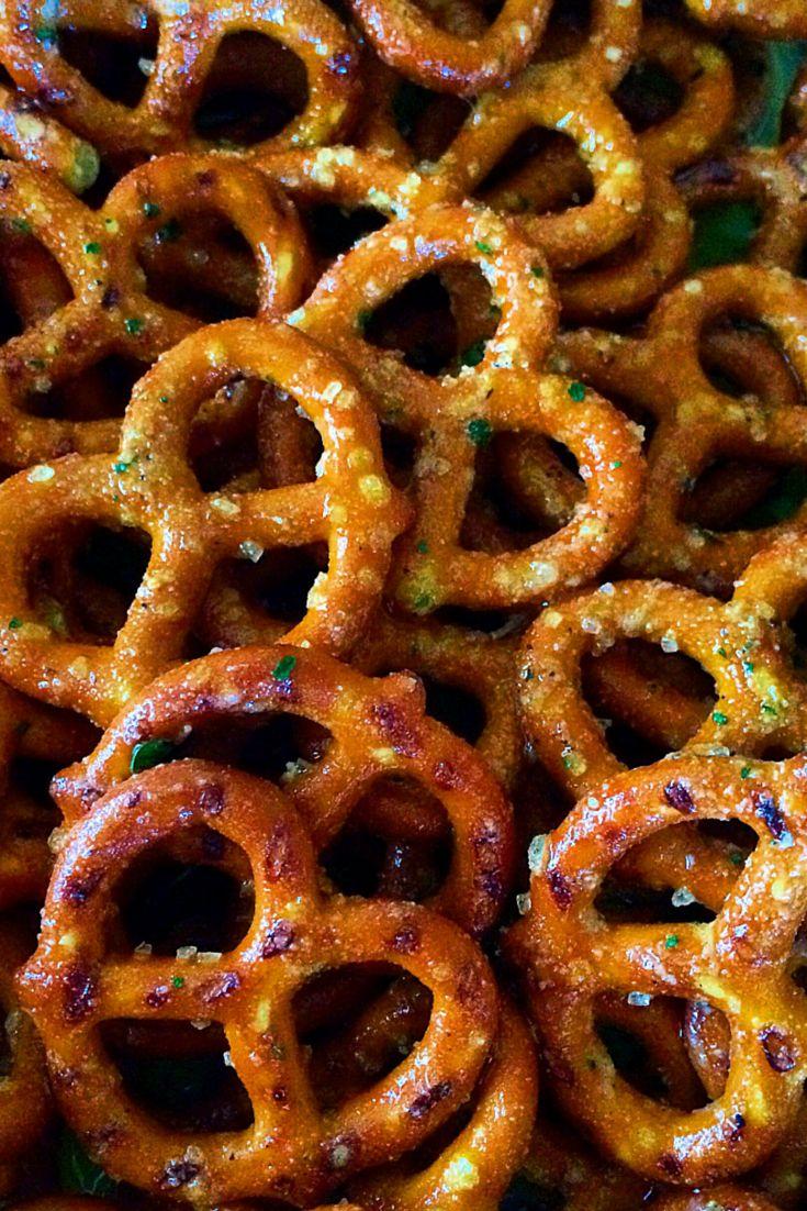 Seasoned pretzels- only 5 ingredients!