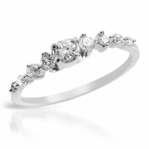 Ring With Cubic Zirconia - Size 6