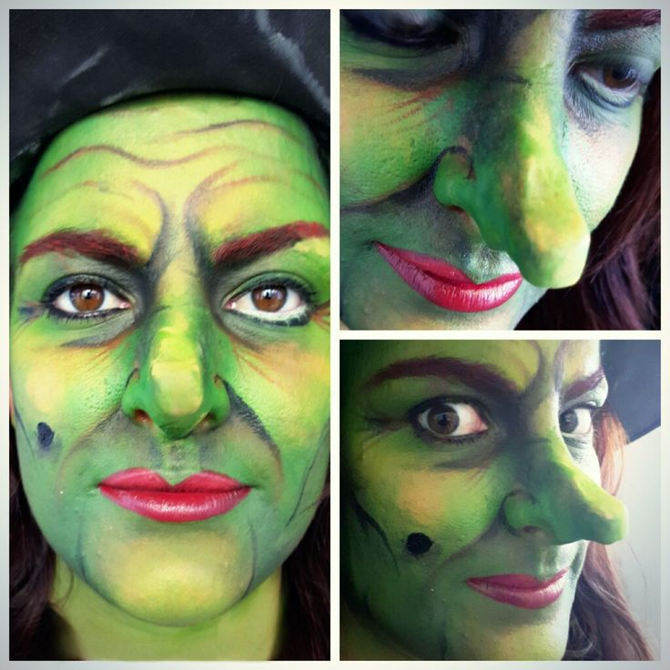 green halloween witch makeup facepaint inspired by the wizard of oz by mua jasmin johnston - Halloween Facepaint