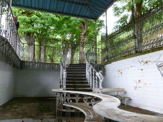 Abandoned 1920s Fountain/Bar for Natural Hot Springs in Mondariz Balneario, Spain