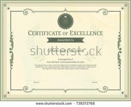 125 best Certificate template images on Pinterest - blank stock certificate template