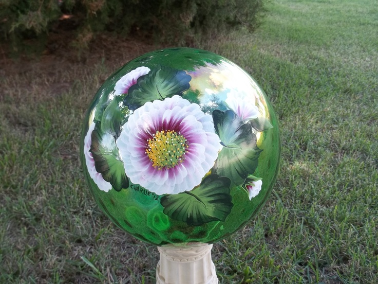 Gazing balls how to on pinterest bowling ball garden balls and