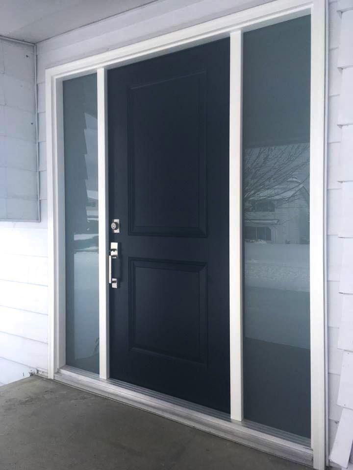 A fabulous installation by Authentic Installations Inc. for a great client in the #FraserValley! A Westeck front door system with sidelites, from our Classic line of doors. #installations #doorreplacement #renovations #exteriordoors #classicdoors