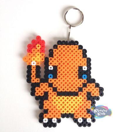 Pokemon Charmander Keychain Sprite Perler Art Creation