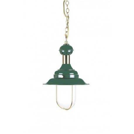Lámpara náutica verde 21 cm Diámetro