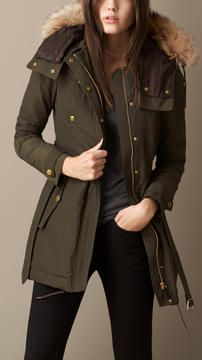 Burberry Down-Filled Parka  #cpourl