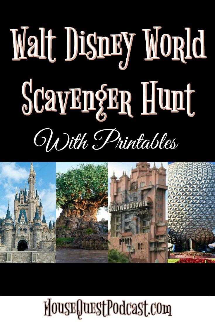 Walt Disney World Scavenger Hunt / Magic Kingdom / Epcot / Animal Kingdom / Hollywood Studios