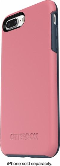 OtterBox - Symmetry Series Case for Apple® iPhone® 7 Plus - Pink/Blue - Front Zoom
