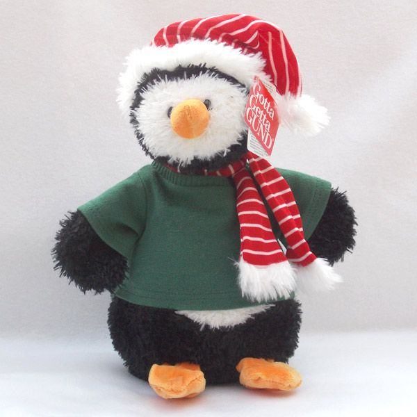 Personalised Gund Penguin Snowflake. Personalise his Green -Shirt with your own personal message. http://www.bears4u.co.uk/Product-Info/index.php?Bearname_ID=453