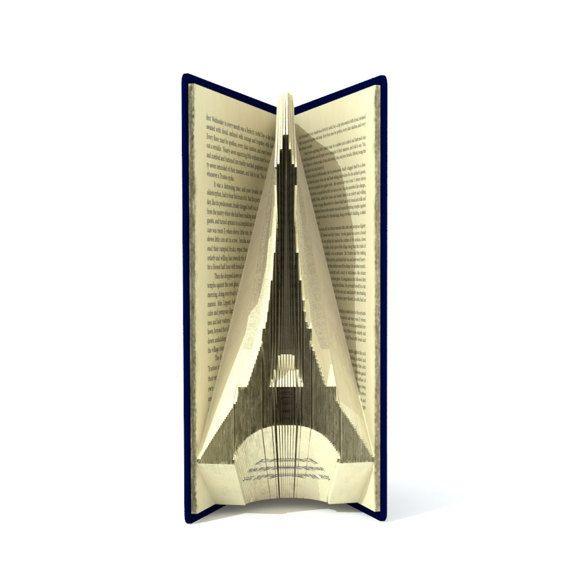 Buchen Sie Falten Muster - Eiffelturm - 126 Falten + Tutorial mit einfachen Muster - Herz - SI0508