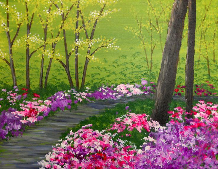 Canvas Painting Spring Season Glen