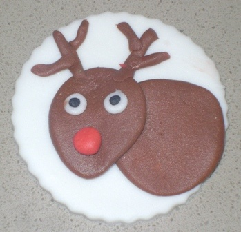 Rudolph the Red Nose Reindeer Cupcake Topper