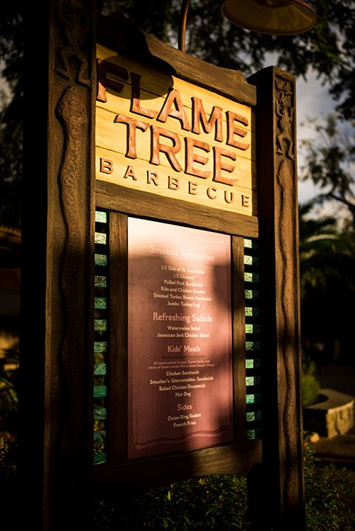 An updated look at Flame Tree BBQ's new menu, making it one of the best Disney Dining Plan options!