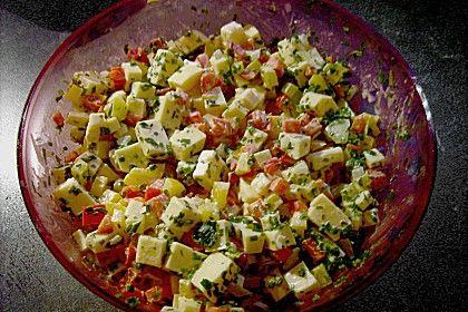 Paprika - Gouda - Salat