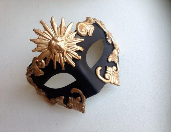 Gold Mens Masquerade Mask Mens Face Masks Mens Venetian