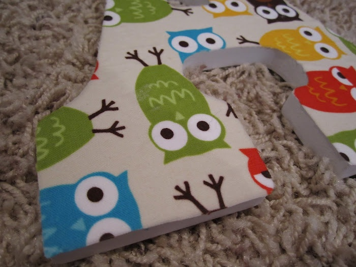 wooden letters covered in fabric Wooden letters - fabric covered wooden letters for babies room or nursery perfect gift for a new baby.