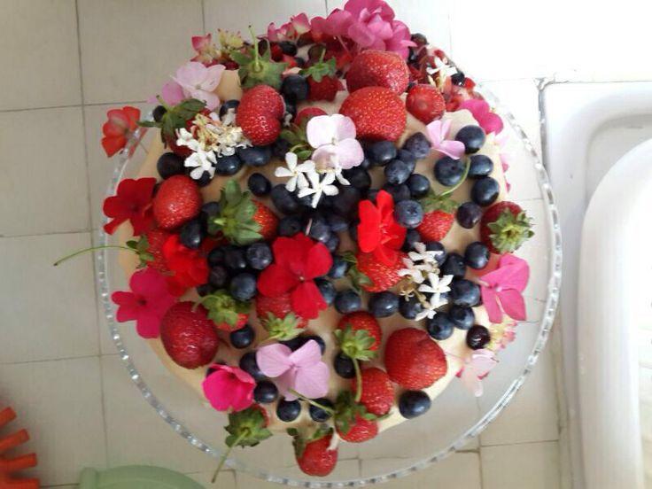 birthday cake... flowers...