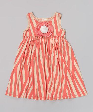 48 best kids style images on pinterest kid styles kids fashion loving this papaya stripe rosette dress girls on zulily zulilyfinds fandeluxe Gallery