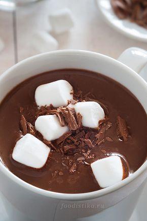 Горячий шоколад с маршмеллоу - рецепт пошагово | Рецепт ...