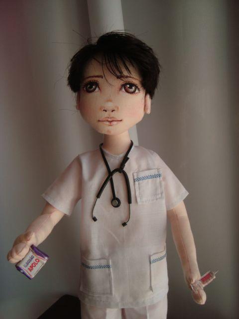 Bonecas de pano. Médicos ou enfermeiros Soraia Flores!