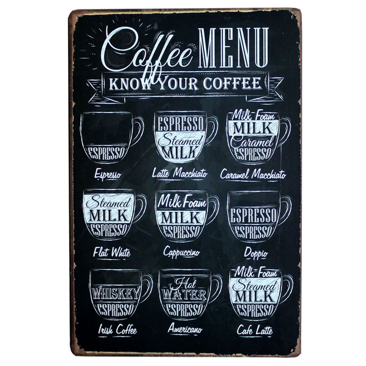[Mike86] CAFE MENU TAHU ANDA KOPI Tua Dinding Logam Lukisan TIN SIGN ART Decor AA-230 Mix memesan 20*30 CM