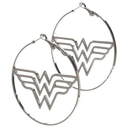 Wonder Woman Logo Hoop Earrings
