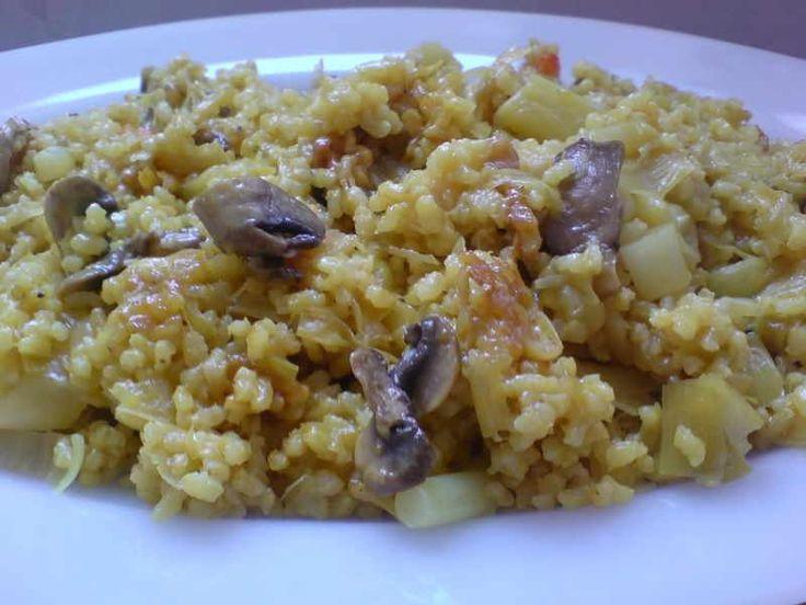 Receta de arroz integral con puerro recetas vegetarianas - Arroz con verduras light ...