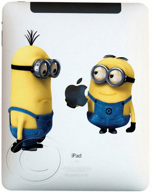 Another good one! Minions iPad Decal Mac Apple iPad Sticker Tablet by MegaVinyl, $7.95