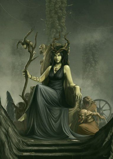 Goddess Nicneven, mother witch and queen of the Scottish fairies