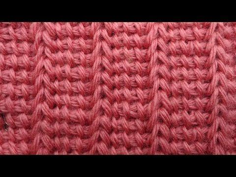 Имитация резинки крючком Тунисская резинка Вязание крючком 47 - YouTube