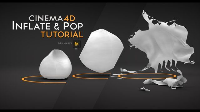 How to inflate and explode an object in cinema4d, learn to control display tags to make more elaborated animations in cinema4d and control softbodies pressure and behaviours to make cool animations. Tutorial by Fxchannelhouse for Cinema4D learning tutorials. Hope you find this interesting. Keep close to our projects here at FxChannelHouse. Thanks for watching  Subscribe to get the best of FxChannelHouse intros & tutorials  http://www.youtube.com/subscription_center?add_user=fxchannelhouse  …