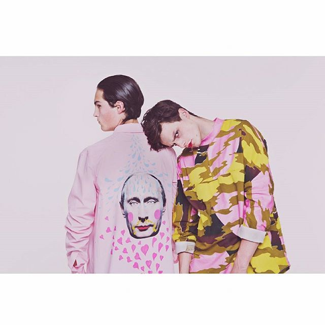 Collection by Andreas Thanner B.A. Alumni 3th Year Student.  Photographer: Jasmin Schuller Hair&MakeUp: Gianna Gooß Models: Jord Lencer & Aaron Barnstorf #model #rose #pink #shooting #model #colour #dali #esmod #esmodberlin