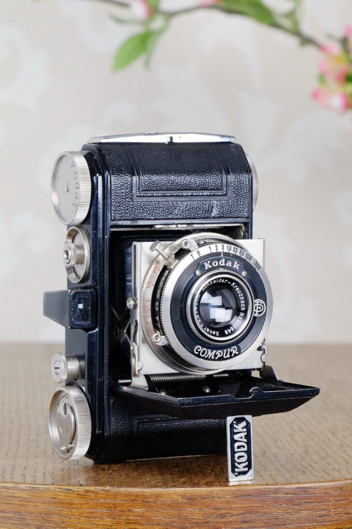 THE ORIGINAL FIRST VERSION, 1934 Black Kodak Retina, model 117, CLA'd, Freshly Serviced!