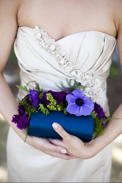 bridesmaid flower clutch bag
