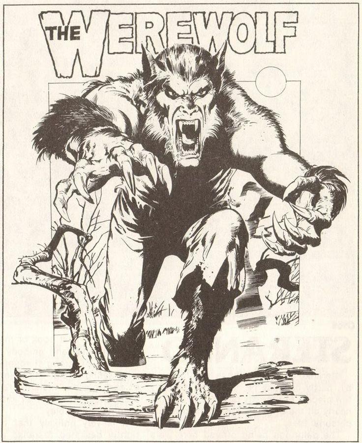 Werewolf drawing by Neal Adams