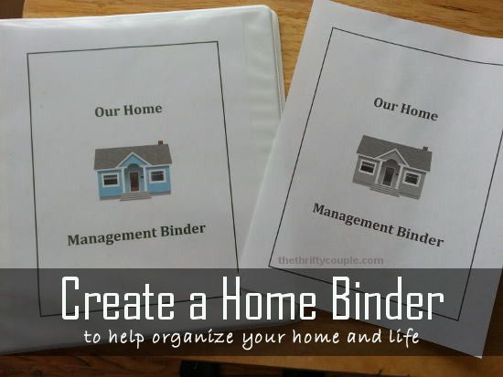 Create a home binder to help organize your home and life with a dozen free downloads and tab ideas | Frugal Living | Organize your life