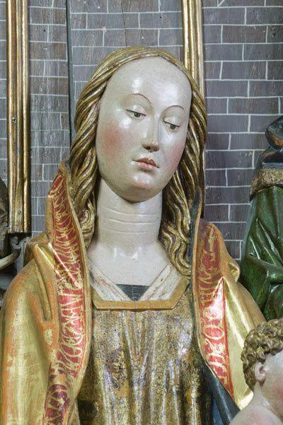 Tríptico de la Adoración de los Reyes Magos. Virgen. Su influencia queda reflejada en otras obras contemporáneas **