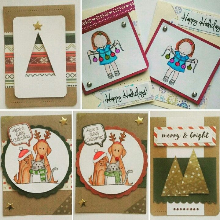 16 designs for Christmas 2016. Make your own pack of 5 cards ♥