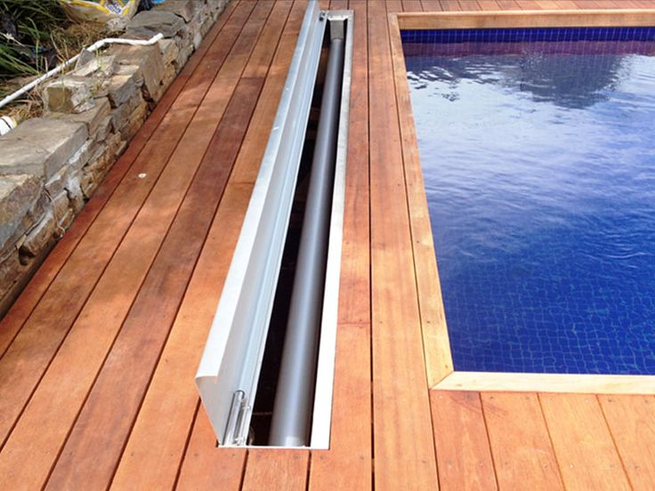 25 best pool covers ideas on pinterest hidden pool - Covering a swimming pool with decking ...