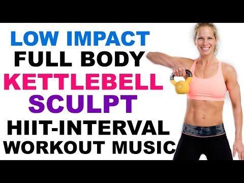 Low Impact Full Body Kettlebell HIIT Sculpt, Kettlebell Workout, Cardio Kettlebell HIIT Workout - YouTube