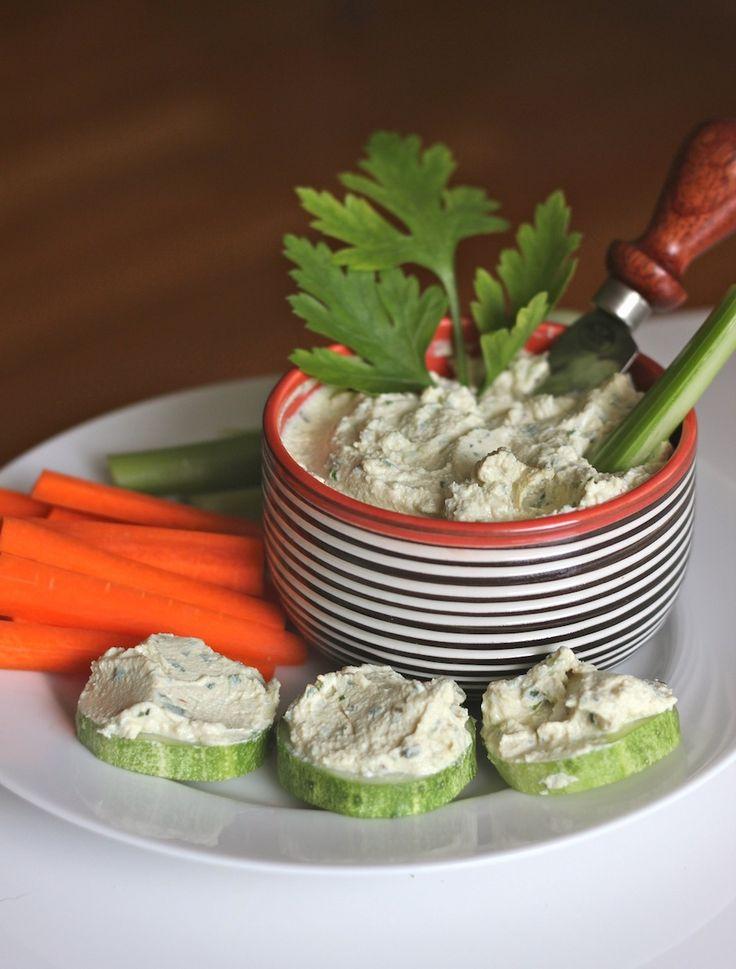 Herb Scallion Tofu Spread on http://www.homemadelevity.com/herb-scallion-tofu-spread/