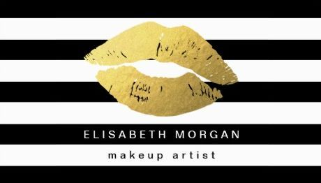 Glamorous Gold Lips with Modern Black White Stripes Makeup Artist Business Cards http://www.zazzle.com/gold_lips_with_black_white_stripes_makeup_artist_business_card-240948679385590734?rf=238835258815790439&tc=GBCCosmetology2Pin