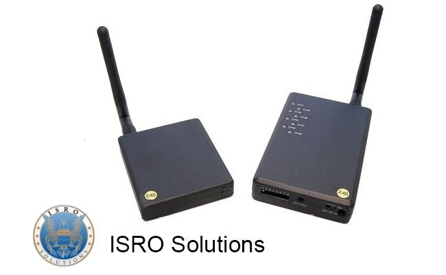 Wireless Transmitter and Receiver ISR-W20 Wireless transmitter and receiver work on 1.2 and 2.4 GHz frequency. The system is easiy to operate and if you pay us a visit at our showroom in Bucharest, you will receive the necessary technical asistance.