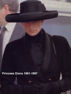 April 1, 1992 Princess Diana at the funeral of her father, Earl Spencer at Great Brington church, Northamptonshire.