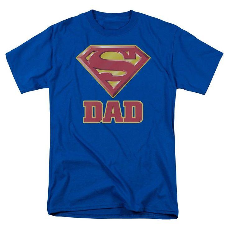 Men's B&t Super Dad Superman Shield Big & Tall T-Shirt - Royal Heather Xxxlt, Size: Xxxl Tall, Blue