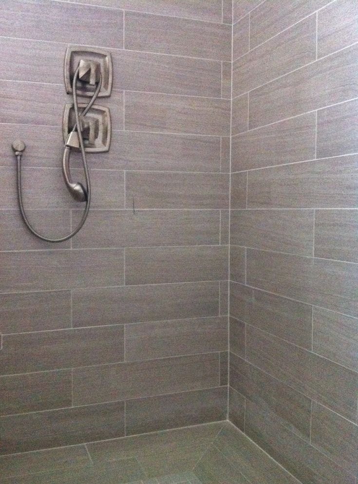 6x24 Porcelain Tile Bathroom Pinterest