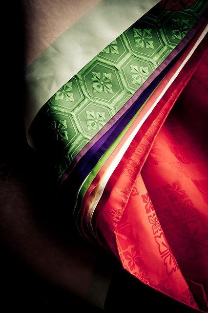 The detail of a Japanese ancient kimono -Juni Hitoe-