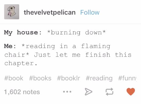 Reading in a fire | us fangirls and fanboys...