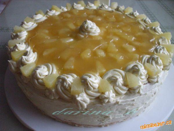 ananasový dort s postupem